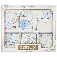 Babyx 7052E Kedili Erkek Hastane Çıkış Setleri, 11'li