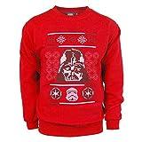 Männer Star Wars Darth Vader Weihnachten Sweatshirt Rot Klein Rot