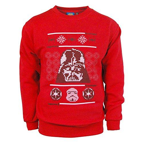 Star Wars Weihnachts Pullover Erwachsene Darth Vader Official Festlich Weihnachten Pullover Top - Rot, Herren, Größe XXL (Star Wars Weihnachten Pullover)