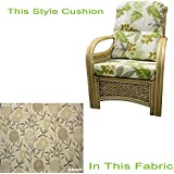Replacement Cane Chair Cushions Only Wicker Rattan Conservatory Furniture by Gilda® (Bamboo Natural)