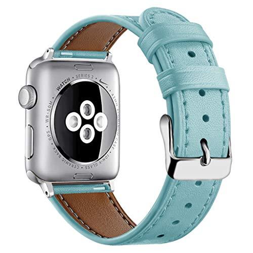 Upxiang für Apple Watch Armband 38mm/40mm Leder Ersatz Wrist Strap Band Freizeit Uhrenarmband Smart Watch Verstellbar Armbänder für iwatch Series 4/3/2/1 (Apple Watch Sport Collection)