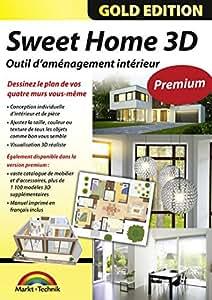 sweet home 3d dition premium avec 1 100 mod les 3d suppl mentaires et manuel imprim l 39 id al. Black Bedroom Furniture Sets. Home Design Ideas