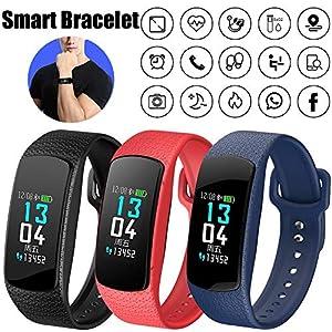 Blue-Yan B63 New Smart Armband Mit Blutdruckmonitor Farbbildschirm Schlaf Überwachung Herzfrequenz, IP67 wasserdichte Sport Tracker Schritt Zähluhr