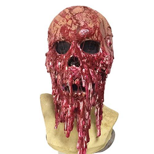Cdet 1x Blutige Leiche Kopfbedeckung Maske Latex Party Masken Masquerade Halloween Maske Cosplay Karneval Kostüm Horror Spuk Kopf Masken