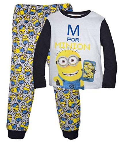 MINIONS - Pijama dos piezas - para niño gris gris