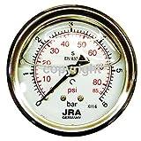 JRA-Longlife Glyzerin Manometer 0-6 bar NG63 Anschluss hinten G1/4