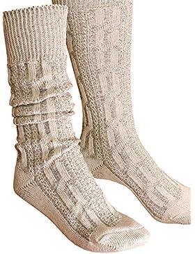 Engelleiter Trachtensocken Socken Zopfmuster beige