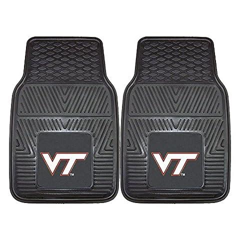 Virginia Tech Hokies Heavy Duty 2-Piece Vinyl Car Mats