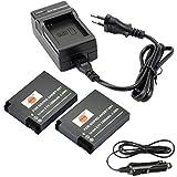 DSTE®(2 Pack)Ersatz Batterie und DC121E Reise Ladegerät Kit für GoPro AHDBT-001 HERO GoPro HERO2 Digital Kamera als GoPro AHDBT-001 AHDBT-002