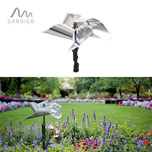 Gardigo Vogel-Frei Windmühle, reflektierende Vogelscheuche, giftfrei und dekorativ Vögel vertreiben, Vogelabwehr, Vogelschreck