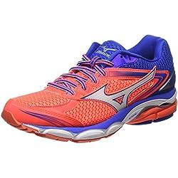 Mizuno J1GD160902, Zapatillas de Running Mujer, Pink (Fiery Coral/White/Dazzling Blue), 36.5 EU