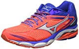 Mizuno Wave Ultima 8, Chaussures de Running Compétition Femme, Rose (Fiery Coral/White/Dazzling Blue), 38 1/2 EU (5.5 UK)