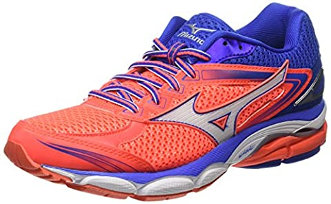 Mizuno Wave Ultima 8, Chaussures de Running Compétition femme, Rose (Fiery Coral/White/Dazzling Blue) , 38 1/2 EU ( 5.5 UK )