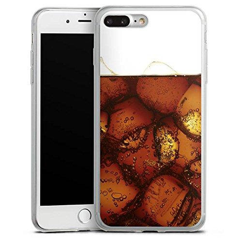 Apple iPhone X Slim Case Silikon Hülle Schutzhülle Cola Getränk Eiswürfel Silikon Slim Case transparent