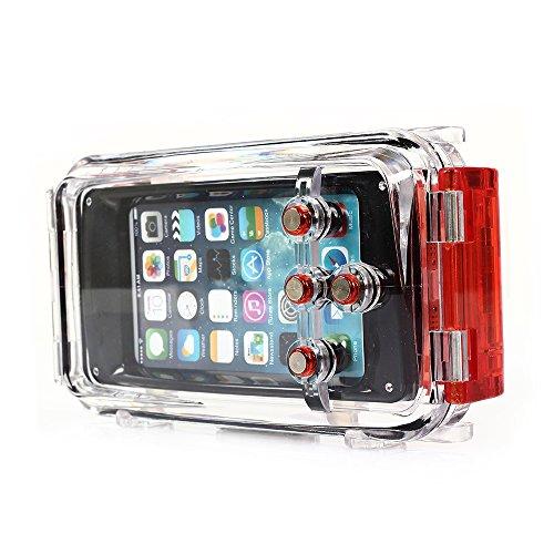 CoastCloud IP8X wasserdichtes Geh?use Hard Case mit Halsband f¨¹r iPhone 5 5C 5S - Voll Sch¨¹tzen f¨¹r Outdoor-Sport Hikking Jagd Radfahren Orange
