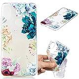Nadoli Transparent Hülle für Huawei Honor Play,Bunt Blumen Malerei Muster Crystal Kirstall Ultra Dünn Durchsichtige Schutzhülle Bumper für Huawei Honor Play,Bunt Blumen