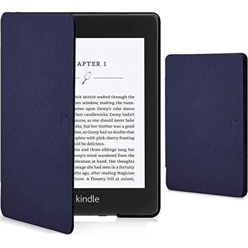 Forefront Cases Kindle Paperwhite 2018 Cover - Custodia Protettiva Magnetica Smart Auto Sleep Wake per Amazon Kindle Paperwhite (10ª generazione - modello 2018) - Sottile Elegante Leggera - Blu Marino