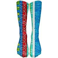 hat pillow Bug's Life Funky Stripe Knee High Graduated Compression Socks For Women And Men - Best Medical, Nursing, Travel & Flight Socks - Running & Fitness