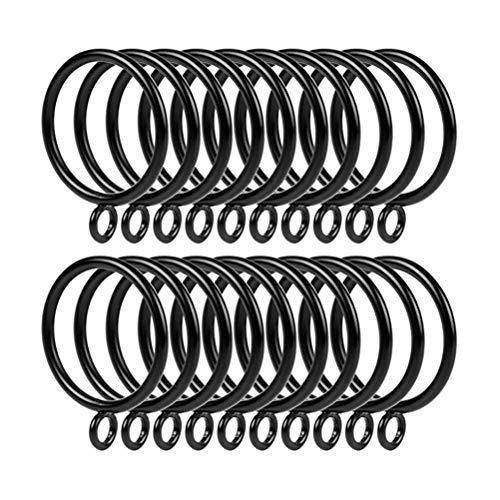 20 Stücke Schwarz Metall Vorhang Ring Auf Stange Für Haken Vorhang Clips Hängen Ring Vorhang Dekorative Accessoires 38mm (Ring Stange Stange Vorhang Metall)