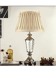 mesa de cristal moderna lámpara de dormitorio de la lámpara de televisión cuarto de estar lámpara de noche (sin fuente de luz)