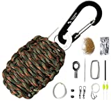 The Friendly Swede Paracord Karabiner Survival-Kit mit Messer - Überlebens-Ausrüstung
