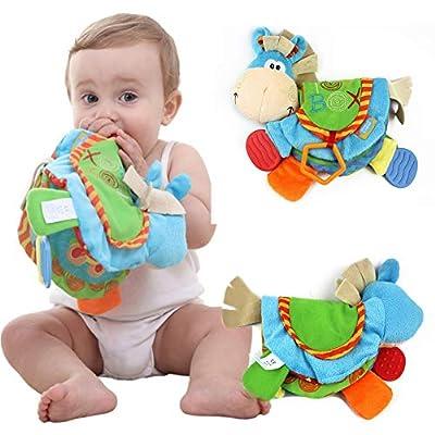 PanDaDa Livre en Tissu Livre D'éveil Multifonction Jouet Educatif Cadeau Anniversaire Fête Nouvel An pour Bambin Bébé de 0 à 12 Mois