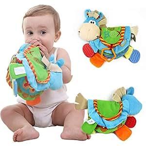Pandada Livre En Tissu Livre D Eveil Multifonction Jouet Educatif Cadeau Anniversaire Fete Nouvel An Pour Bambin Bebe De 0 A 12 Mois A