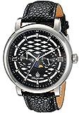 Burgmeister Men's Quartz Watch with Black Dial Analogue Display and Black Leather Bracelet BM217-122