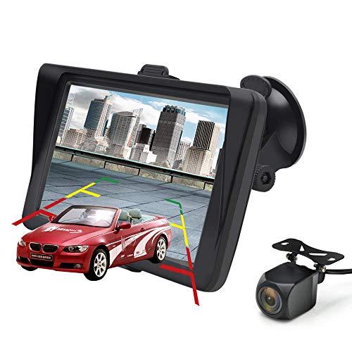 AWESAFE GPS para Coche de 7 Pulgadas con Bluetooth y Cámara Trasera,...