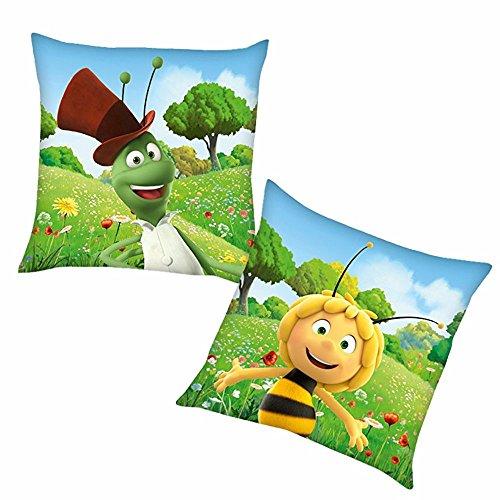 Herding Flip   Kinder Kissen 40 x 40 cm   Biene Maja   Kuschelkissen   Dekokissen -
