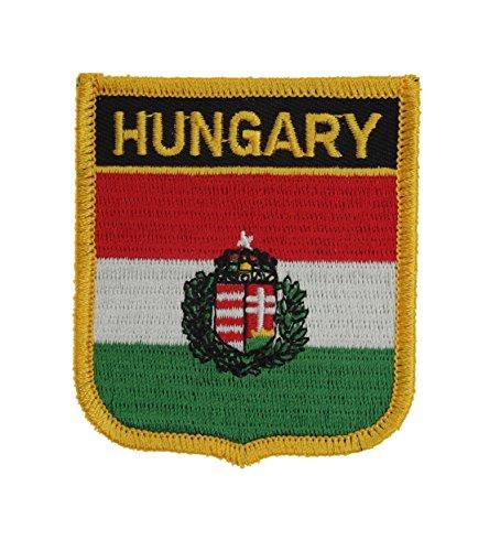 Yantec Patch Écusson thermocollant Motif blason de l'Hongrie