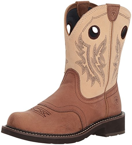 Ariat Women's Fatbaby Heritage Cowgirl Western Boot, Tan/Sand, 6 B US -