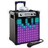 ION Audio Party Rocker Max - Sono Enceinte Bluetooth 100W Portable et Rechargeable 75h d'Autonomie avec Dôme et Façade LED Disco & Microphone Inclus