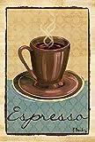 YEATRY Drapeaux De Jardin,Timbre Tasse De Café Décorative De 30 X 45 Cm Morning Joe CAF \U0026 Eacute; Drapeau De Maison - 109860...