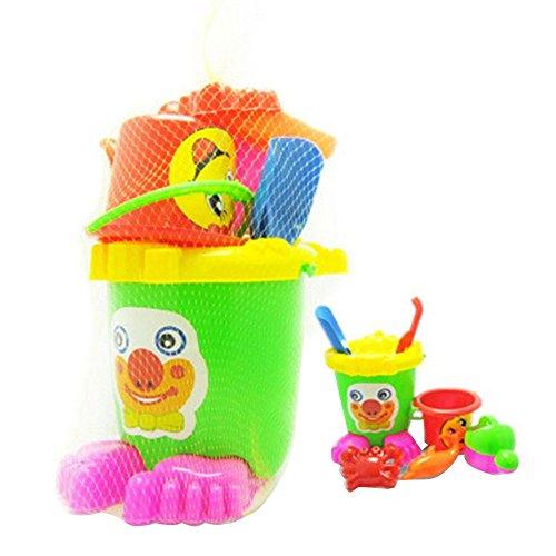 JWBOSS Strand Sand Spielzeug Set Sieben Stück Anzug Sommer Spielzeug Set Für Alters 3+ Kinder Sandschaufel Sand Eimer Ei (Sand 3 Stück Anzug)