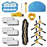 Zubehör für Cecotec Conga Excellence 990 Roboterstaubsauger 1 Hauptbürste, 6 weiße Filter, 6 Seitenbürste, 2 Blaue Spannvorrichtungen, 2 Reinigungswerkzeug