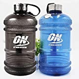 #3: Optimum Nutrition Water Bottles with Stainless Steel Cover Large Capacity Handle Portable Water Bottles for Outdoor Sports (2.2 Liter)