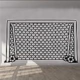 Qwerlp Fußball Tor Net Wandaufkleber Kunst Kinderzimmer Jungen Mädchen Decor Vinyl Wandaufkleber Kunstwand Schlafzimmer Wohnzimmer Wohnkultur D205