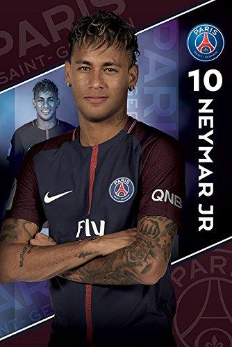 Pyramid Poster 2017/2018 con diseño PSG Neymar,, 61 x 91.5 cm