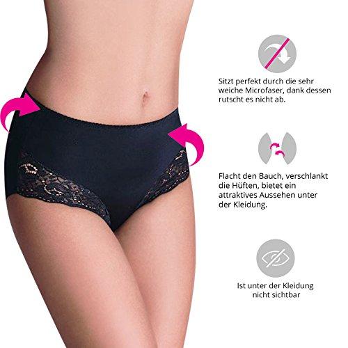 06d73aa25f3878 ... Damen figurenformend Miederslip mit Bauch-Weg-Effekt Stark Formend  Miederpants Miederhose Body Shapewear Bauchweg