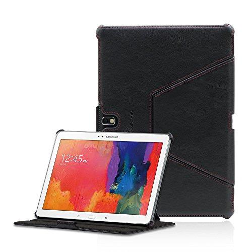 Manna Samsung GalaxyTab Pro 10.1 Hülle | Kunstleder, Tasche schwarz | Schutzhülle mit EasyStand-Funktion aufstellbar | Samsung GalaxyTab Pro 10.1