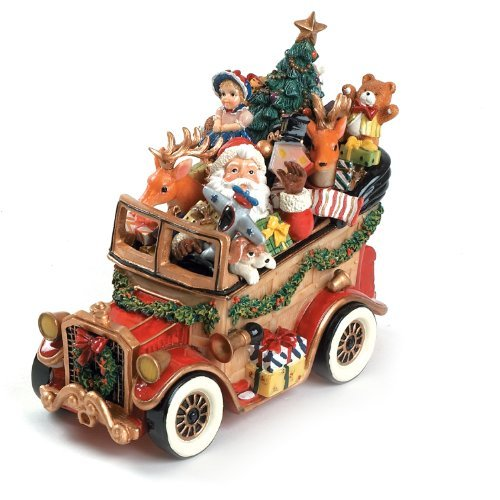 Santa Classic Car 'We Wish You A Merry Christmas' Musical Figurine by Fitz and Floyd Floyd Christmas Santa