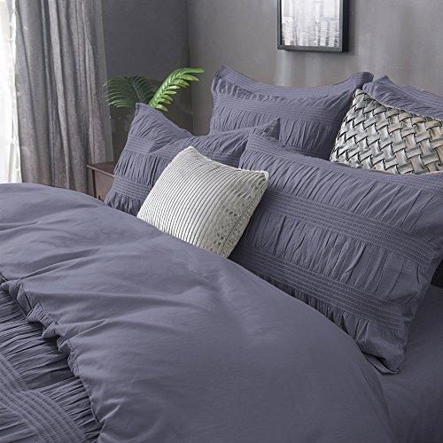 Merryfeel 100% Baumwolle Garn gefärbt Seersucker Bettwäsche-Set - 155x220+80x80cm