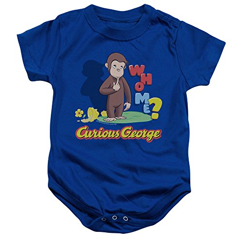 Curious George - Kleinkind Who Me Onesie, 24 Months, Royal Blue
