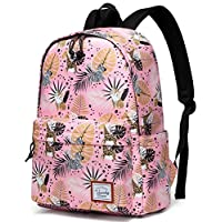 Vaschy Backpack for Girls, Lightweight Ladies Backpack School Campus Casual Schoolbag Bookbag Fits 14 in Laptop (Animal World)