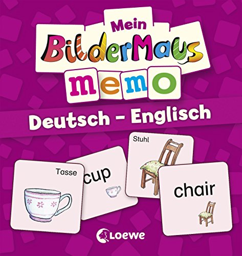 Preisvergleich Produktbild Mein Bildermaus-Memo - Deutsch - Englisch (Kinderspiel)