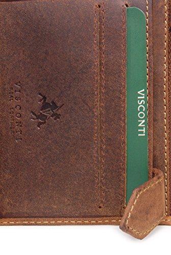 Portafoglio uomo in pelle regalo Visconti - 708 Olio Marrone Chiaro