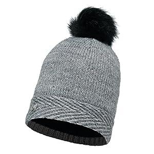 Buff Strick mit Kopfbedeckungen