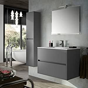 Salgar - Meuble lavabo et vasque - Meuble complet salle de bain NOJA 900 Gris