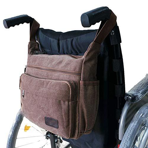 Leinwand Attache (RANRANHOME Rollstuhltasche Rollstuhl-Leinwand-Tasche Side Pouch Korb Aufbewahrungsveranstalter Tote Mobilitätsgeräte)